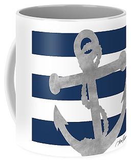 Silver Coastal On Blue Stripe I Coffee Mug