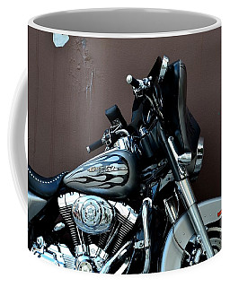 Coffee Mug featuring the photograph Silver Harley Motorcycle by Imran Ahmed