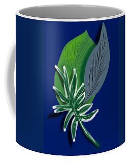 Coffee Mug featuring the digital art Silver Leaf And Fern II by Christine Fournier