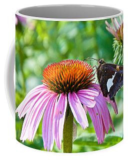 Silver-spotted Skipper And Echinachea Coffee Mug