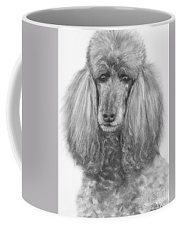 Silver Standard Poodle Drawing Coffee Mug by Kate Sumners