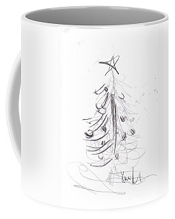 Coffee Mug featuring the drawing Simple Love by Laurie Lundquist