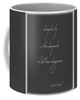 Simplicity And Elegance Coffee Mug