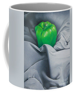 Coffee Mug featuring the painting Simply Green by Pamela Clements