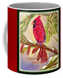 Singing The Good News With A Christmas Message Coffee Mug by Kimberlee Baxter