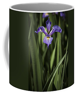 Coffee Mug featuring the photograph Single Iris by Penny Lisowski