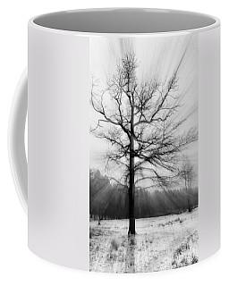 Single Leafless Tree In Winter Forest Coffee Mug