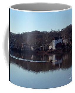 Single Scull On The Delaware Coffee Mug
