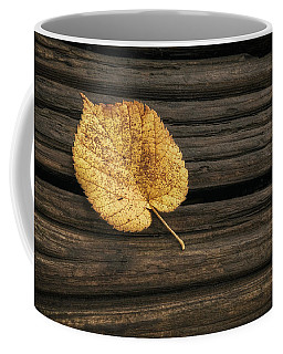 Single Yellow Birch Leaf Coffee Mug
