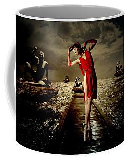 Coffee Mug featuring the digital art Siren by Galen Valle