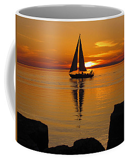 Sister Bay Sunset Sail 2 Coffee Mug