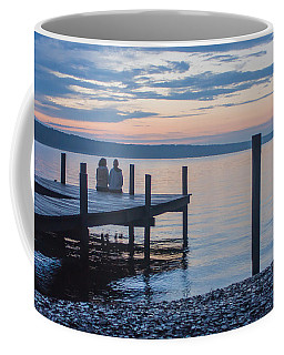 Sisters - Lakeside Living At Sunset Coffee Mug by Photographic Arts And Design Studio