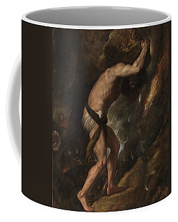 Coffee Mug featuring the painting Sisyphus by Titian