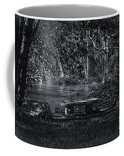 Coffee Mug featuring the photograph Sit And Ponder by Mark Myhaver