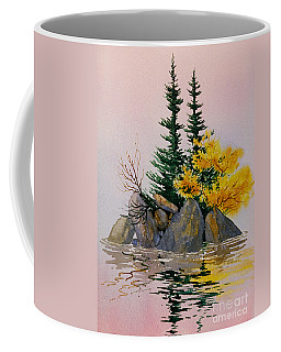 Coffee Mug featuring the painting Sitka Isle by Teresa Ascone
