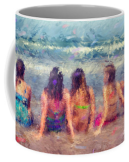 Sitting In The Surf Coffee Mug