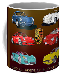 Six Sexy Slippery Porsche Automobiles Coffee Mug