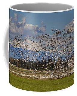 Skagit Snow Geese Liftoff Coffee Mug
