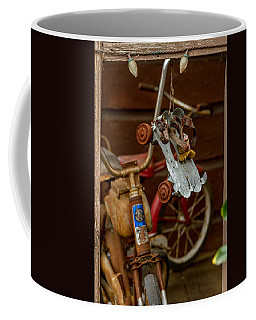 Coffee Mug featuring the photograph Skates And Bikes by Bill Gallagher