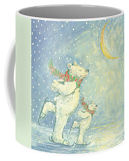 Skating Polar Bears Coffee Mug