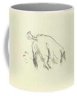 Sketch Of A Dog Digging A Hole Coffee Mug