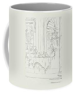 Sketch Of A Formal Dining Room Coffee Mug