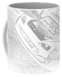 Sketched S2000 Coffee Mug by Eric Liller