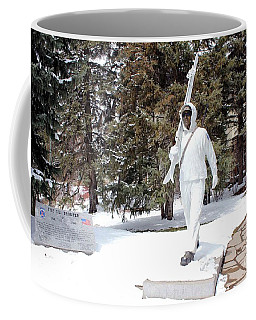 Ski Trooper Coffee Mug by Fiona Kennard
