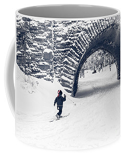 Skiing In Acadia National Park Coffee Mug