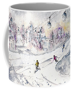 Skiing In The Dolomites In Italy 01 Coffee Mug