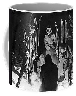 Skiing Party Camps In Siberia Coffee Mug