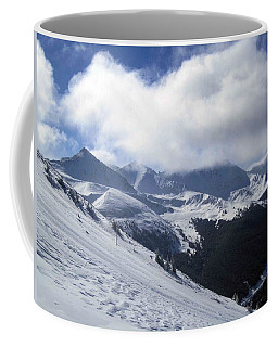 Coffee Mug featuring the photograph Skiing With A View by Fiona Kennard