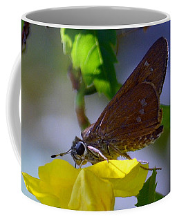 Coffee Mug featuring the photograph Skipper Butterfly by Debra Martz