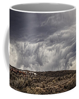 Skirting The Storm Coffee Mug