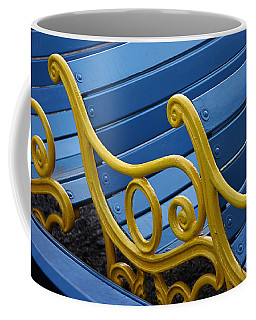 Coffee Mug featuring the photograph Skc 0246 The Garden Benches by Sunil Kapadia