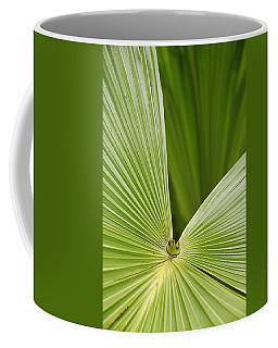 Skc 0691 The Paths Of Palm Meeting At A Point Coffee Mug by Sunil Kapadia