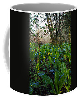 Coffee Mug featuring the photograph Skunk Cabbages by Adria Trail