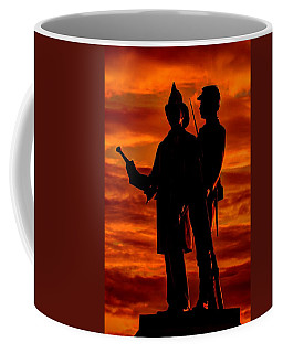 Coffee Mug featuring the photograph Sky Fire - 73rd Ny Infantry Fourth Excelsior Second Fire Zouaves-b1 Sunrise Autumn Gettysburg by Michael Mazaika