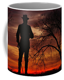 Sky Fire - Brigadier General John Buford - Commanding First Division Cavalry Corps Sunset Gettysburg Coffee Mug