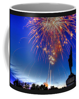 Sky Fire - Pennsylvania At Antietam - 132nd Pa Volunteer Infantry July 4th 2014 - 1b Coffee Mug