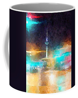 Sky Tower By Night Coffee Mug