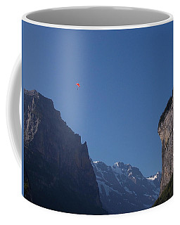 Skydiver Over Lauterbrunnen Coffee Mug