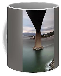 Coffee Mug featuring the photograph Skye Bridge At Sunset by Maria Gaellman