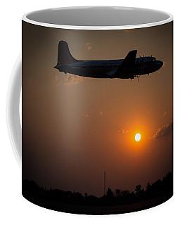 Coffee Mug featuring the photograph Skymaster Sunset by Paul Job