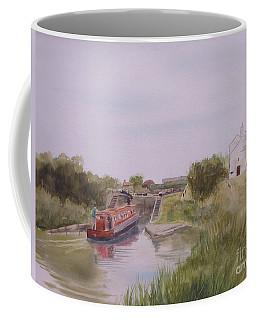 Coffee Mug featuring the painting Slapton Lock by Martin Howard