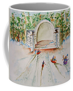 Sledding At Devou Park Coffee Mug