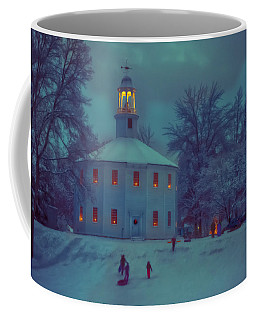Sledding At The Old Round Church Coffee Mug