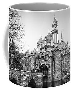 Sleeping Beauty Castle Disneyland Side View Bw Coffee Mug