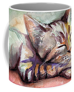 Sleeping Kitten Coffee Mug