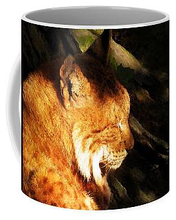 Sleeping Lynx  Coffee Mug by Menega Sabidussi